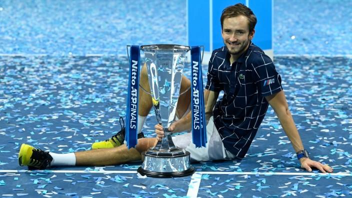 2020 ATP, Tennis Herren Finals , London Daniil Medvedev , Russia *** 2020 ATP Finals , London Daniil Medvedev , Russia