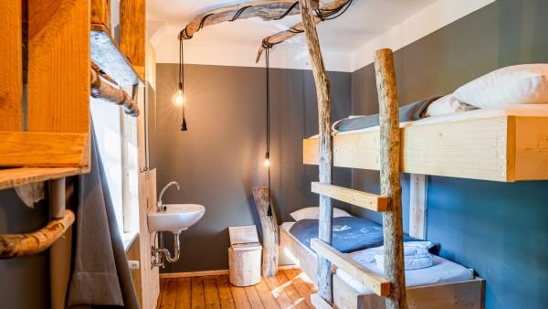 """Ein Zimmer im Hotel """"The Keep"""" in Salzburg."""
