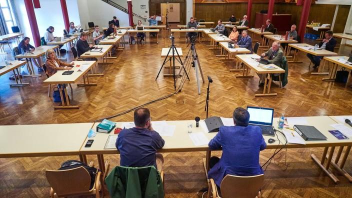 Grafinger Stadtrat - Corona Sitzordnung