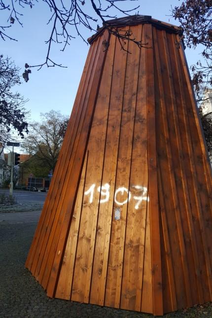 Bismarck Brunnen Wensauerplatz Pasing