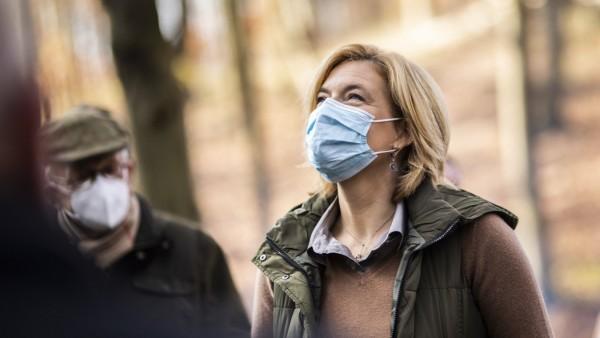 Julia Kloeckner, Bundesministerin fuer Ernaehrung und Landwirtschaft, aufgenommen im Rahmen der Pflanzaktion im Hohen H