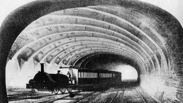 Eisenbahn in Europa, Untergrund-Eisenbahn in London, Mitte des 19. Jahrhunderts   Europeen railways