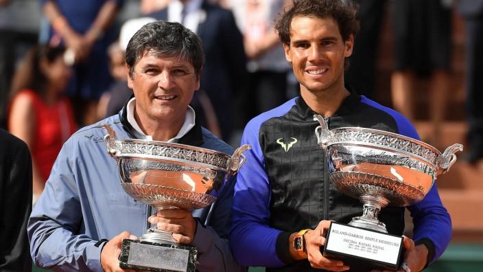 Rafael Nadal ESP Toni Nadal ESP TENNIS Roland Garros 2017 Internationaux de France 11 06 2