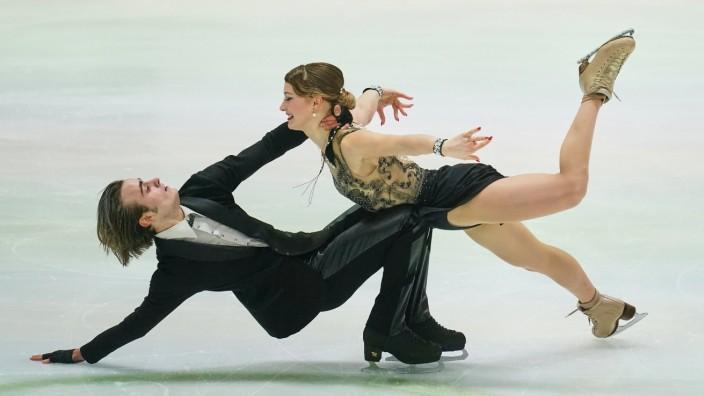 Katharina Mueller and Tim Dieck of Germany in action during Ice Dance Free Dance at ISU European Figure skating, Eiskun; Tim Dieck