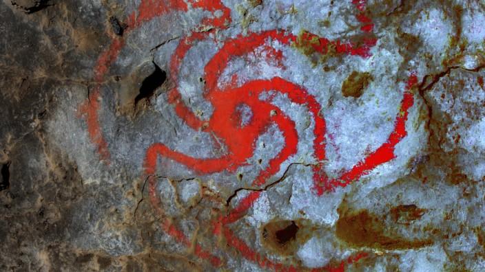 Archäologie: Höhlenmalerei in der Pinwheel-Höhle in Kalifornien
