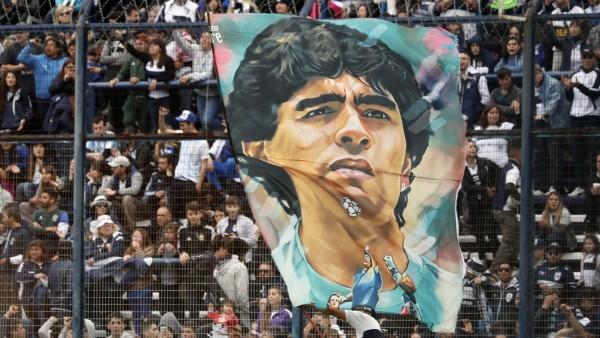 Maradona-Plakat in Buenos Aires