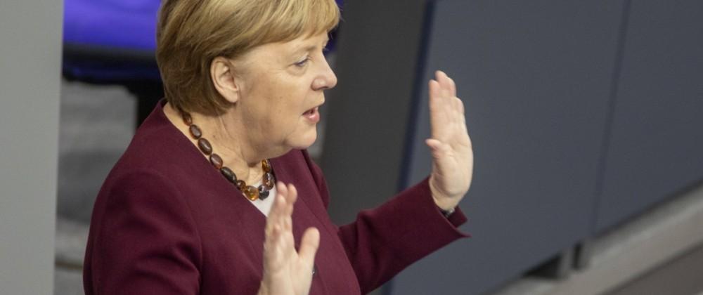 Deutschland, Berlin, Bundestag, 195. Sitzung, Regierungserklärung von Bundeskanzlerin Angela Merkel CDU zur Corona Lage