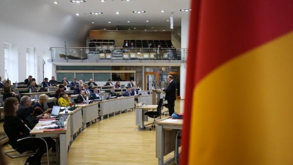 Ministerpräsident Reiner Haseloff (CDU,Sachsen Anhalt) während einer Rede
