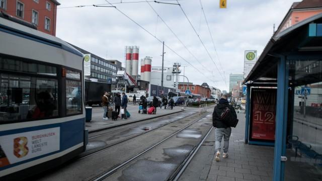 Tramhaltestelle Hauptbahnhof in München, 2020