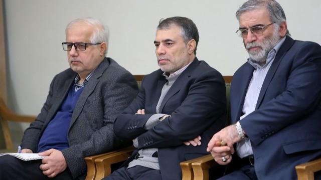 Prominent Iranian scientist Mohsen Fakhrizadeh is seen in Iran