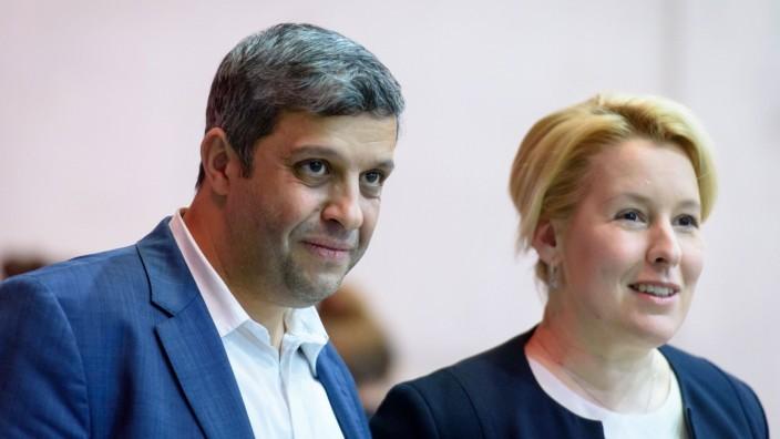 SPD Bundesparteitag in Berlin Deutschland, Berlin - 07.12.2019: Im Bild ist Franziska Giffey (Bundesministerin für Fami