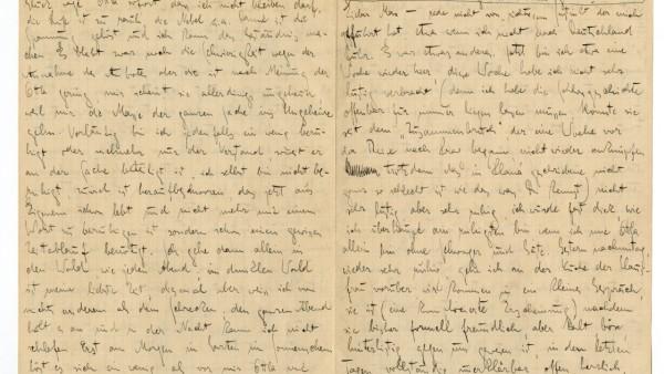 Brief von Franz Kafka an Max Brod vom 11. September 1922 (c) Deutsches Literaturarchiv Marbach