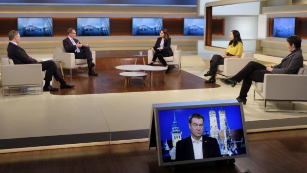 Anne Will zu Corona-Maßnahmen mit Markus Söder und Christian Lindner