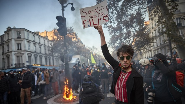 Protest gegen Polizeigewalt in Frankreich
