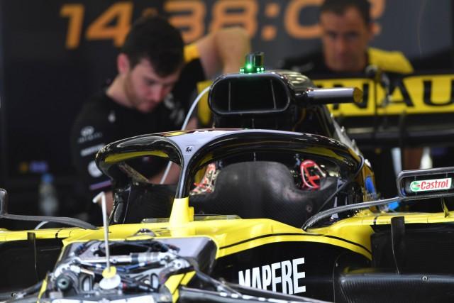 2019 Bahrain GP BAHRAIN INTERNATIONAL CIRCUIT BAHRAIN MARCH 28 Renault R S 19 halo during the B; Halo Formel 1