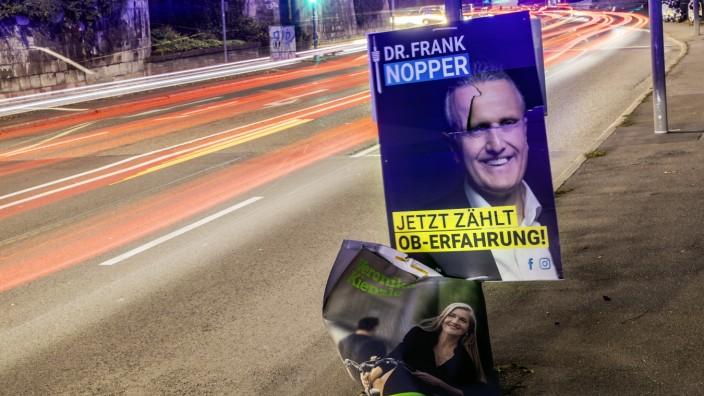 OB-Wahl in Stuttgart 2020: Wahlplakat von CDU-Kandidat Frank Nopper