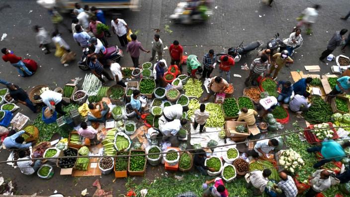 Indien: Markt in Mumbai