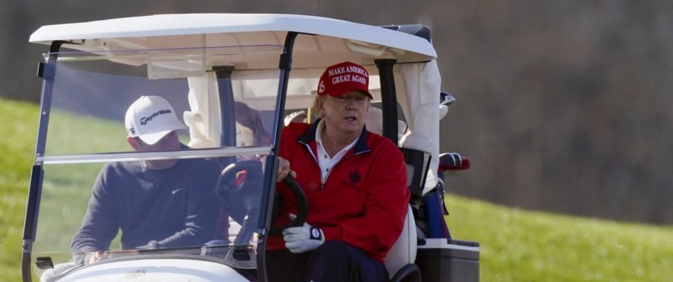 US-Präsident Trump im Golf Club