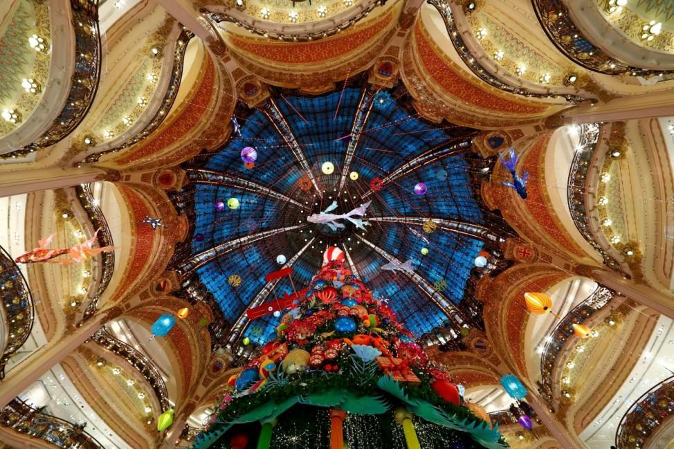 Christmas illuminations for the holiday season in Paris