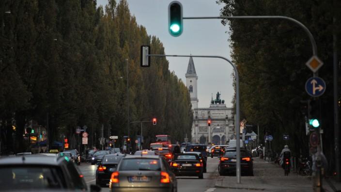 Leopoldstraße in München, 2019