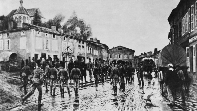 Truppenbesuch von König Wilhelm I. von Preußen, 1870