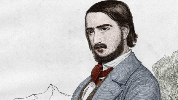 portrait de Georges Georg Herwegh 1817 1875 poete allemand d apres la peinture de C HITZ AUF