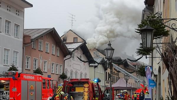 Brand in Spieoase Wolfratshausen, Obermarkt
