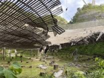 Arecibo-Teleskop: Das Auge hat sich geschlossen