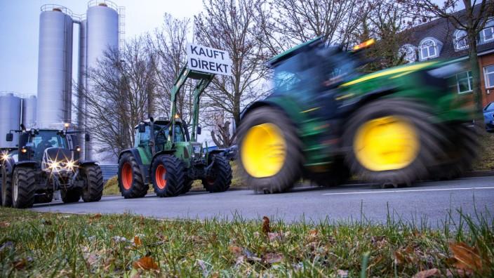Protestaktionen von Milchbauern