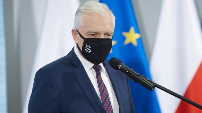 November 30, 2020, Warsaw, Mazovian, Poland: Press Conference of the Deputy Prime Minister, Minister of Development, La