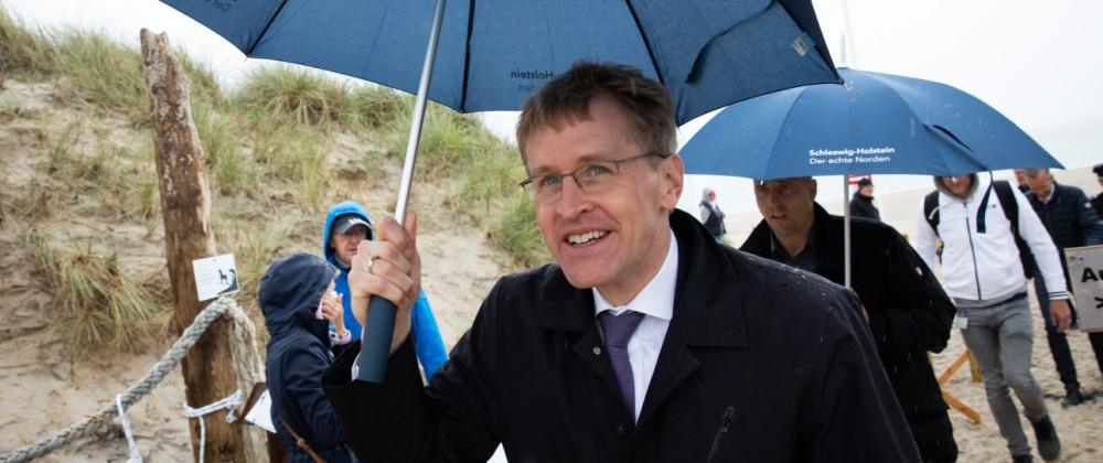 Ministerpräsident Günther besucht Sylt