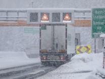 Schneechaos am Brennerpass