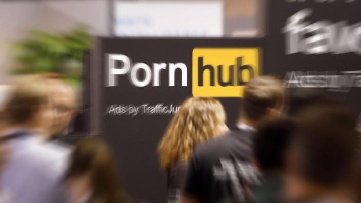 """Messestand der Pornoseite """"Pornhub"""" auf der dmexco 2019"""