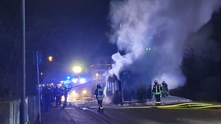 Busbrand in Feldkirchen