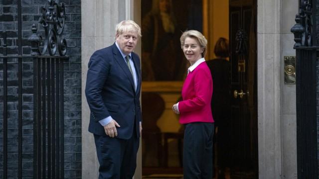 January 8, 2020, London, London, UK: London, UK. Prime Minister Boris Johnson greets President of the European Commissi