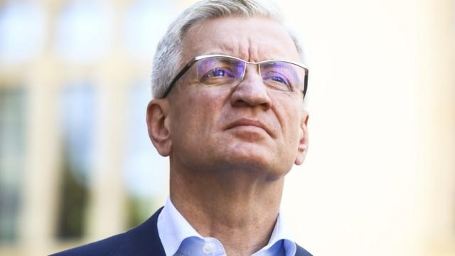 Borys Budka, Jacek Jaskowiak and Tadeusz Truskolaski hold a press conference in Krakow Jacek Jaskowiak Borys Budka, the