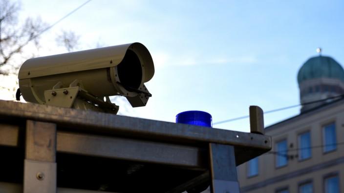 Überwachungskamera in München, 2019