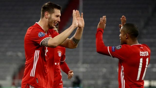 FC Bayern: Niklas Süle und Douglas Costa jubeln in der Champions League