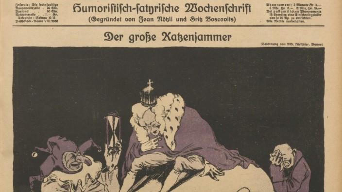 Nebelspalter, Ausgabe vom 13. März 1920, Zeichnung von Alfred Hirschler, Davos