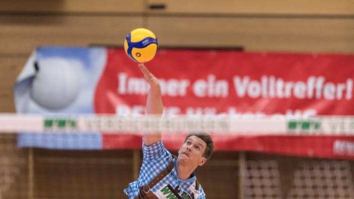 Volleyball, 1. Bundesliga, WWK Volleys Herrsching - Volleyball Bisons Bühl Im Bild Johannes TILLE (WWK Volleys Herrschin; Volleyball