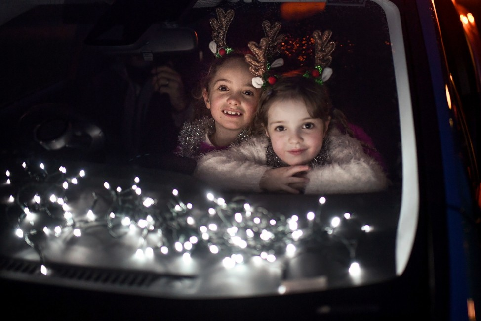 Scottish School Puts On Drive Through Movie