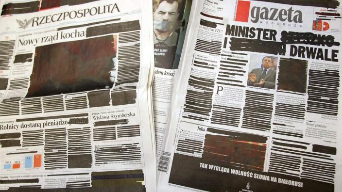 Kampagne gegen Zensur in Weißrussland