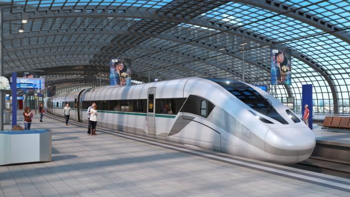 PRESSEBILDER von CASPAR BUSSE Credit: Siemens Mobility / Eva Haupenthal.   Der Novo-Testwagen: Konsequente Erprobung des neuen Hochgeschwindigkeitszugs / The Novo test car: Stringent testing of the new high-speed train