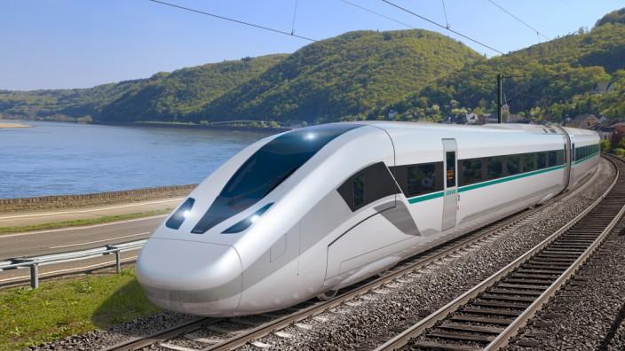 """Siemens presents its new high-speed train âÄ"""" the 'Velaro Novo' / Siemens präsentiert den neuen Hochgeschwindigkeitszug 'Velaro Novo'"""