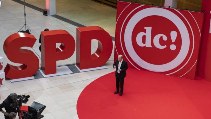 Rede des SPD Kanzlerkandidaten und Bundesfinanzminister Olaf Scholz beim SPD Debattencamp im Willy-Brandt-Haus in Berli
