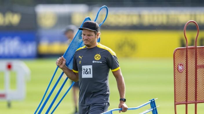 Fußball: 1. Bundesliga, Saison 2020/2021, Training von Borussia Dortmund am 03.08.2020 in Dortmund (Nordrhein-Westfalen; Edin Terzic