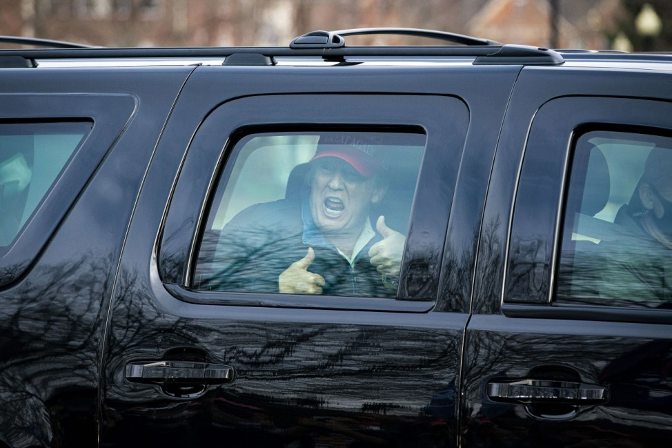 President Trump Golfs On A Mild December Sunday In Virginia