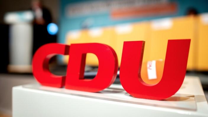 CDU-Logo bei einem Parteitag