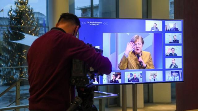 """Online-Dialogreihe ´Die Bundeskanzlerin im Gespräch"""""""