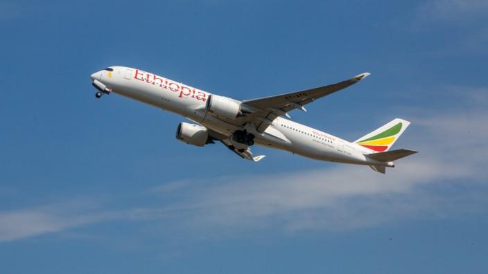 GBR, United Kingdom, England, London, 25.08.2019: Heathrow Airport LHR19 EGLL Registration: ET-ATQ Ethiopian Airlines A